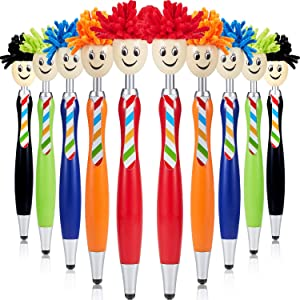 Mop Head Pen Screen Cleaner Stylus Pens 3-in-1 Stylus Pen Duster for Kids and Adults (10 Pieces)