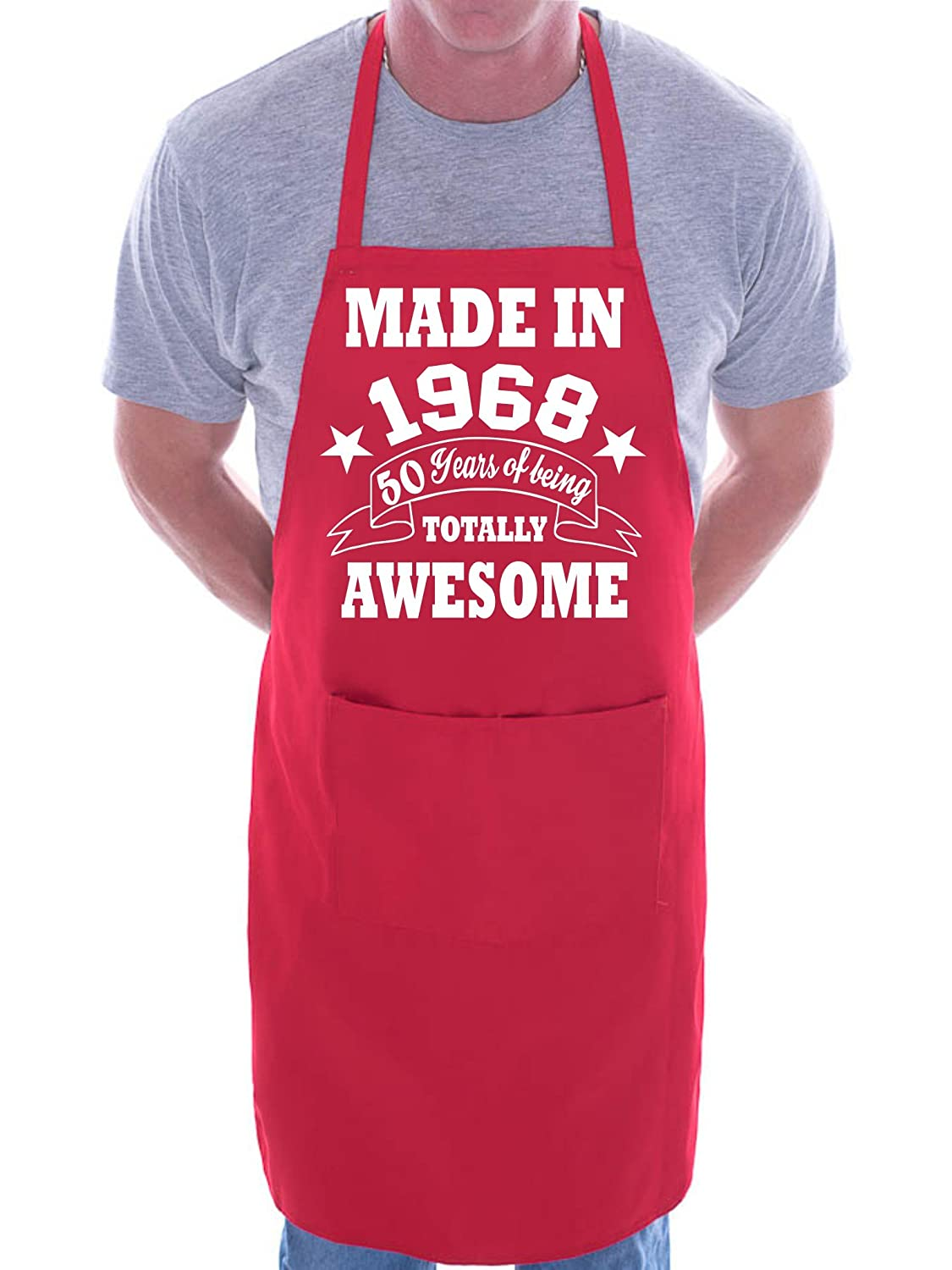50th Birthday Made In 1968 BBQ Cooking Funny Novelty Apron AP800-Black