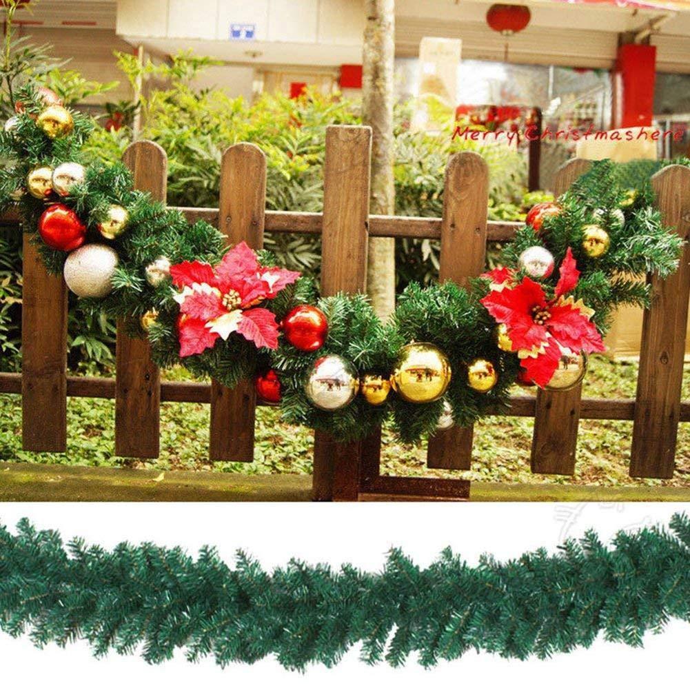 Anna-neek Couronne Dautomne Guirlande de Rotin de Noël Artificielles Décoration DIY Rotin Idéal Décoration Noël pour Magasin Bureau Sapin De Noël