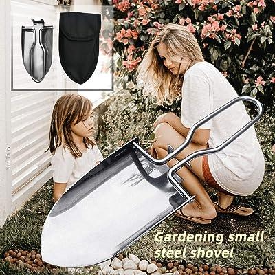 Difcuy Mini Portable Outdoor Stainless Steel Folding Shovel Trowel Spade Gardening Tool : Garden & Outdoor