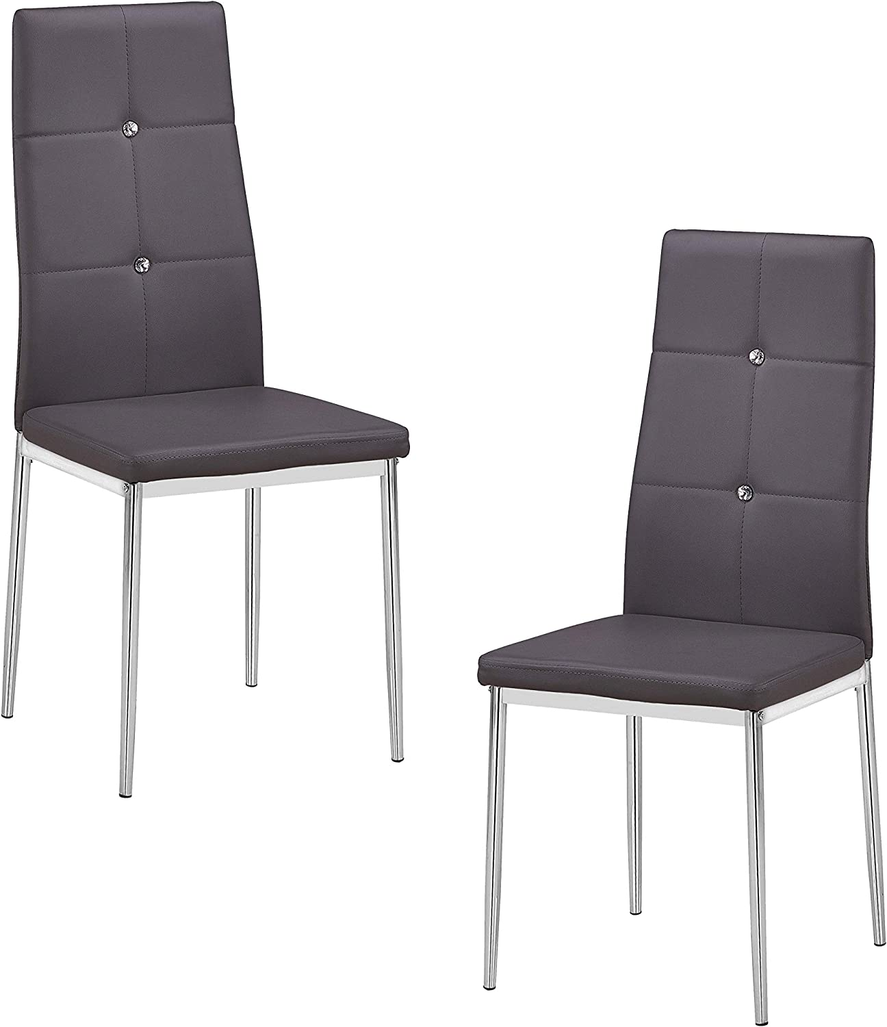 Best Master Furniture T246 Upholstered Dining Chair Black