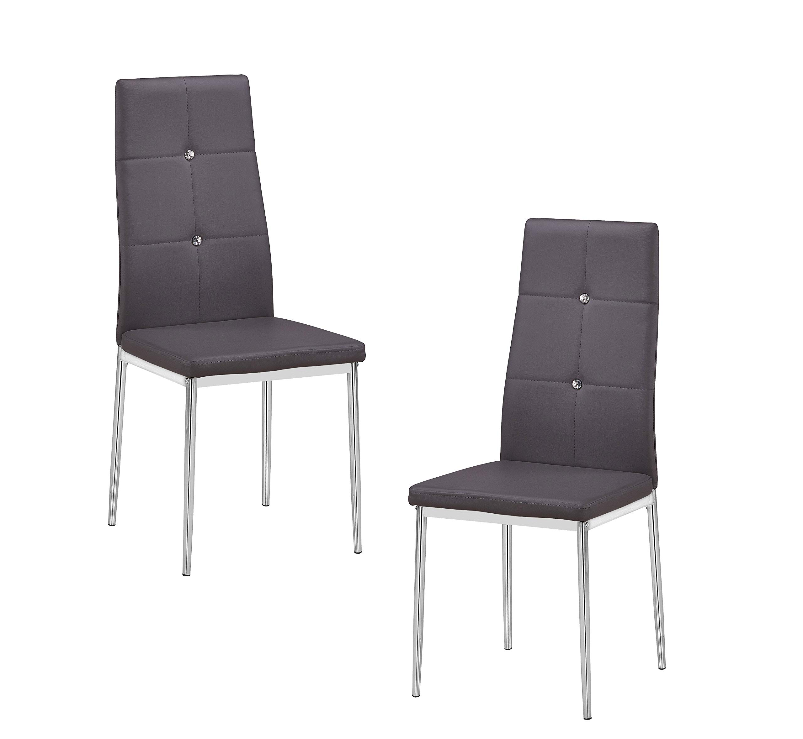 Best Master Furniture T246 Chapman Modern Living Parson Chairs - Set of 2, Grey