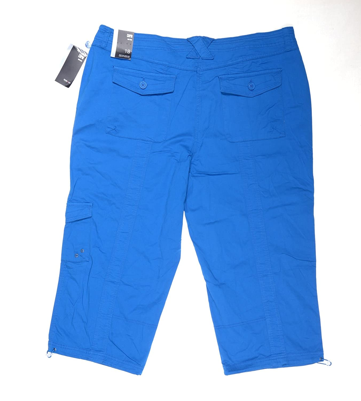 Style & Co. Womens Twill Cargo Capri Pants Blue 4