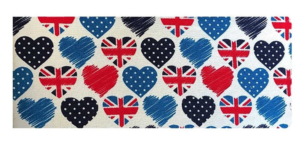 British Hearts Print Chequebook Wallet - Natural Finish cbcukbrhea002