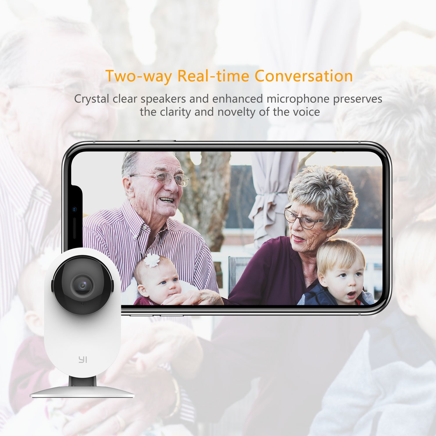 YI Home Camera, Security Camera Wireless IP Surveillance Camera with Night Vision Activity Detection Alert Baby Monitor, Remote Monitor with iOS, Android App - Cloud Service Available (2 Pack) by YI (Image #4)
