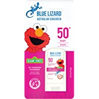 BLUE LIZARD Baby Mineral Sunscreen Stick with Zinc Oxide, SPF 50+, Water Resistant, UVA/UVB Protection - Easy to Apply…