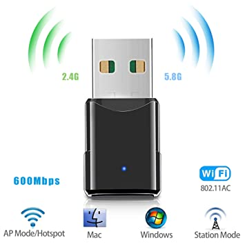 Amazon.com: Adaptador WiFi USB, adaptador de red inalámbrico ...