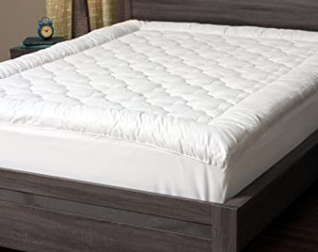 cover quilted amazon thick skirt top pillow topper cooling hypoallergenic mattress dp fitted with pad com soft