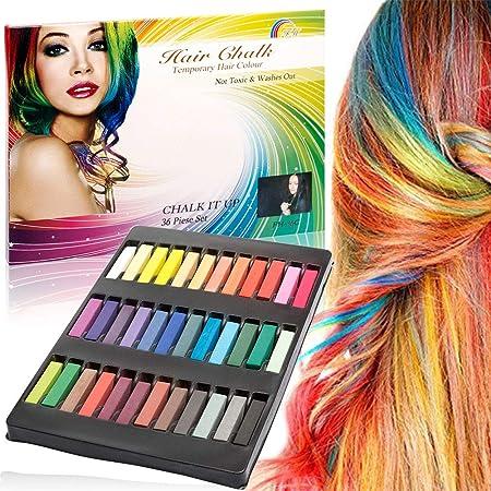 Haarkreide,Kinder Haartönung,Haar Farbe Set,Auswaschbar Temporäre Haarfarbe Kreide Kamm,Einmalige Haar Colorationen Ungiftig,