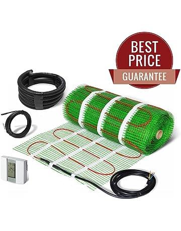 BodenW/ärme Red calentadora el/éctrica para suelo 150/W//m/² tama/ño a elecci/ón con dobles cables y termostato Digital