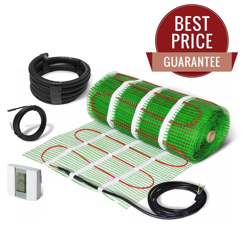 Electric Underfloor Heating Mat Self Adhesive KIT 200W/m2 - LIFETIME GUARANTEE! (1.0m2, no thermostat) Eco Infrared Technologies Ltd