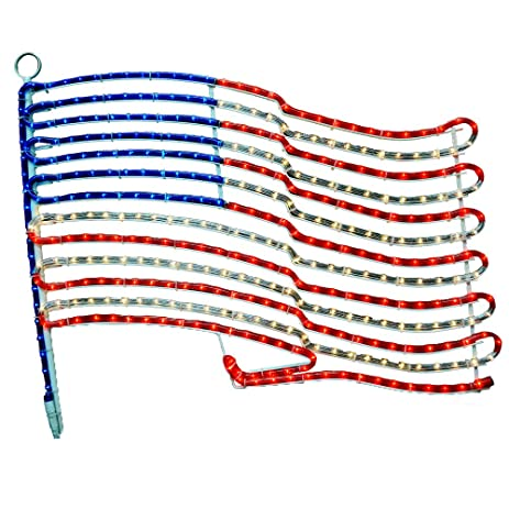 Amazon american flag rope light motif lighted flag red american flag rope light motif lighted flag red white and blue flag aloadofball Choice Image