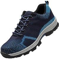 COOU Chaussure de Sécurité s3 Respirant Chaussures de Travail avec Embout de Protection en Acier Et Semelle de Protection Unisexes