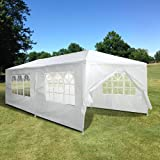 Yescom 20'x10' White Outdoor Wedding Party Patio w/ Removable Side Wall Canopy Sun Shelter