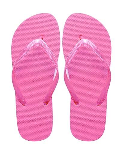 Sugar Island® Dame-Mädchen Diamante Flipflops Zehentrenner-Pink-3/4 ctedlXiR