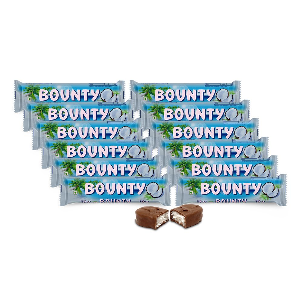 For 379/-(37% Off) Bounty Chocolate Bar, 57g (Pack of 12) at Amazon India