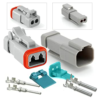 amazon com: amphenol 2-pin connector (end cap), pins & seals crimp  terminals,14-16 awg: industrial & scientific