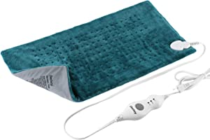 """Deckey XL Heating Pad, Heating Pad for Fast Pain,12"""" x 24"""",Moist Heat Therapy, Fast Pain Relief for Back, Neck, Shoulder, 3 Temperature Settings, Anti-overheating Automatic Power Off, Machine Washable"""