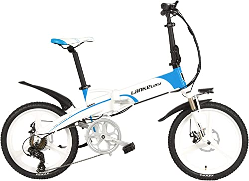 LANG TU 20 Folding Electric Bike Built-in 48V Lithium-ion Battery, Strong Powerful Motor,Aluminum Alloy Rim Frame,Disc Brakes,Quick Release
