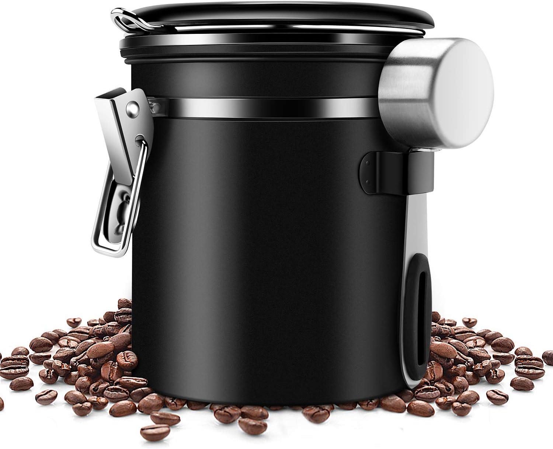 lzn Kaffeedose Luftdichte Vorratsdose Edelstahl Kaffeebeh/älter