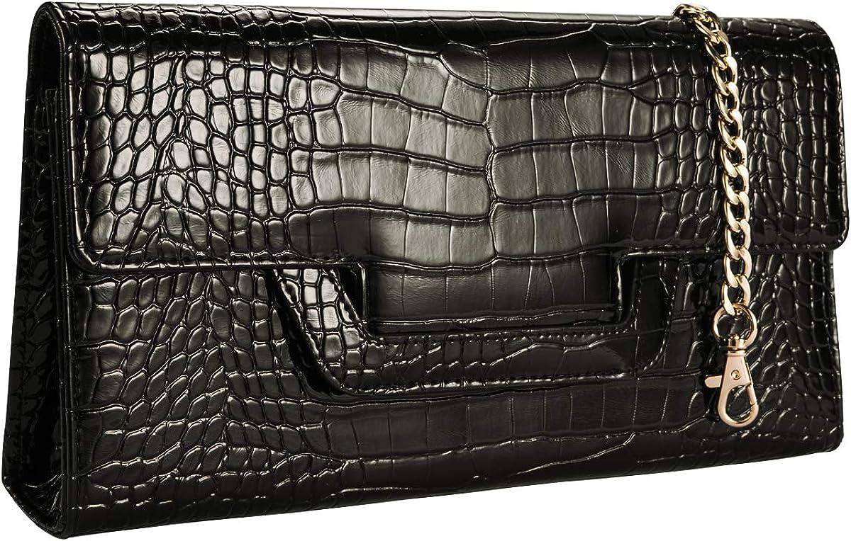 Heaye Animal Skin Croco Clutches Evening Bags Alligator Pattern Crossbody Bag