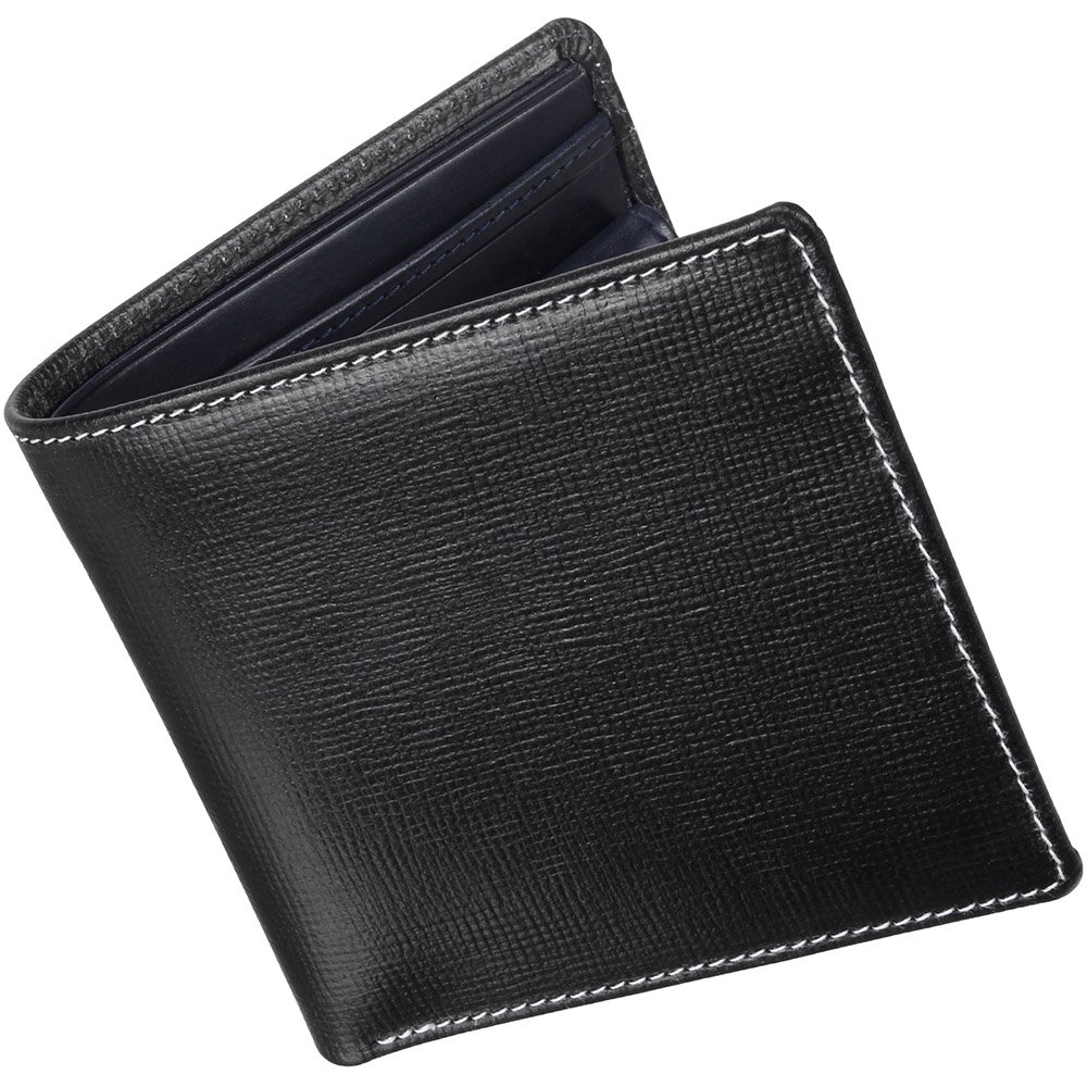 ホワイトハウスコックス(Whitehouse Cox) リージェントブライドル S7532 二つ折り財布 【正規販売店】 B019H2K4WU ブラック/ネイビー ブラック/ネイビー