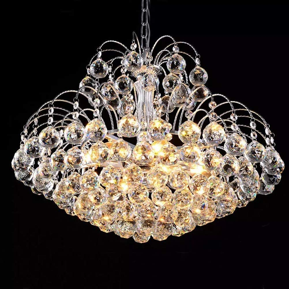 Lightess Crystal Chandelier Ceiling Light Fixture Modern