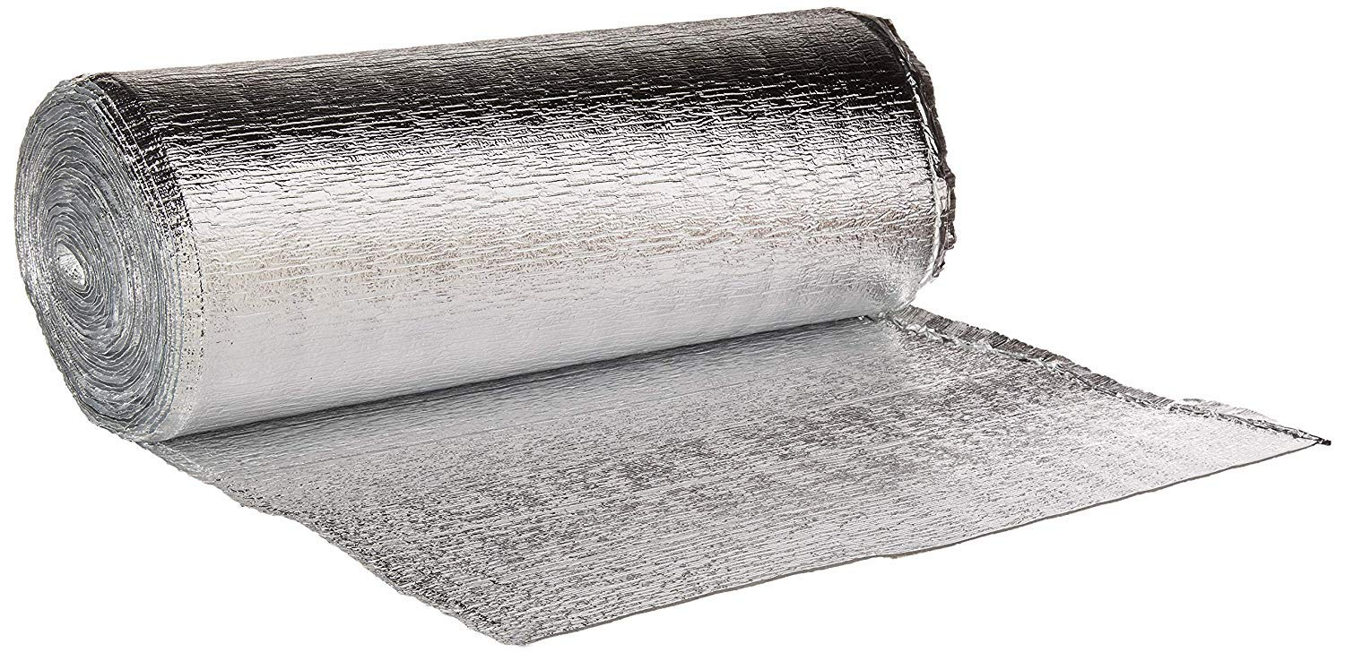 16 Inch x 50 Feet Heat Reflective Insulation Roll - Premium Reflective Aluminum Thermal Insulation Roll with Foam Core for Walls, Attics, Air Duct Insulation, Windows, Radiators. HVAC and Garages by Miloo