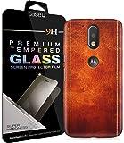 [COMBO] Moto G4 Plus Cover/Case + Free Tempered Glass, CASE U Printed Dual Stiched Leather Designer Premium PolyCarbonate Case Back Cover for Motorola Moto G4 Plus
