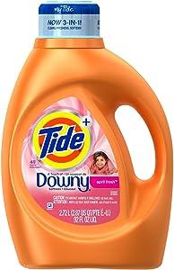 Tide Plus a Touch of Downy Liquid Laundry Detergent, April Fresh - 92 oz