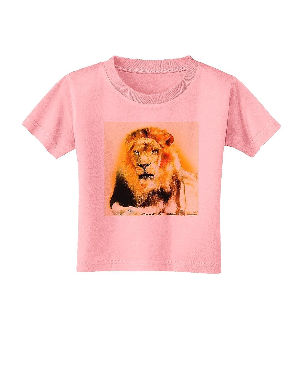 TooLoud Lion Watercolor 4 Toddler T-Shirt