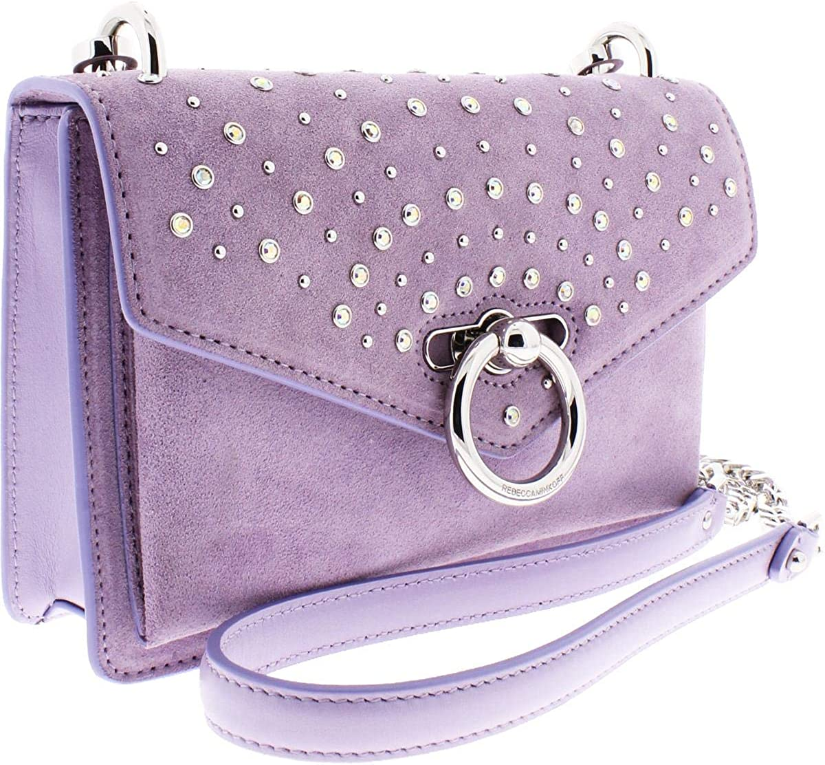 Rebecca Minkoff Womens Jean Suede Embellished Crossbody Handbag