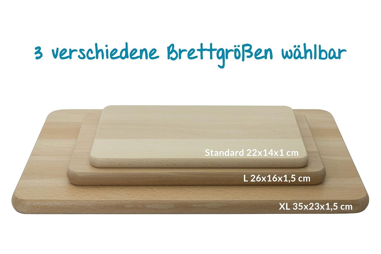 Fr/ühst/ücksbrettchen aus Buche Geschenk mit Gravur Holz Schneidbrett Brotzeitbrett M/ünchen Skyline Fr/ühst/ücksbrett Standard , ohne pers/önlicher Gravur 22x14x1cm Bayern