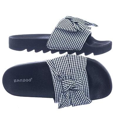 amazon com blossom lug sole gingham checker sporty slide molded