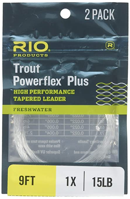 Two Pack Rio Trout Powerflex Plus High Performance Tapered Leader 9/' 3x 4x 5x 6x