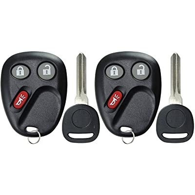 KeylessOption Keyless Entry Remote Car Key Fob and Key Replacement For LHJ011 (Pack of 2): Automotive