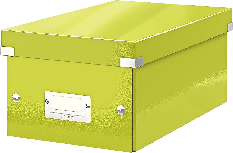 Leitz Caja para guardar DVD, Verde, Click and Store, 60420064: Amazon.es: Oficina y papelería