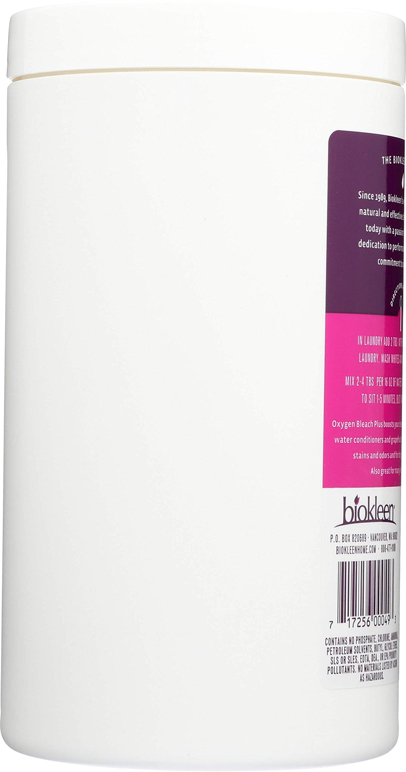 Biokleen Laundry Oxygen Bleach Plus, Concentrated Stain Remover, Whitens & Brightens, Eco-Friendly, Non-Toxic, Plant-Based, No Artificial Fragrance or Preservatives, 2 Pounds, 32 HE Loads (Pack of 12) by Biokleen (Image #4)