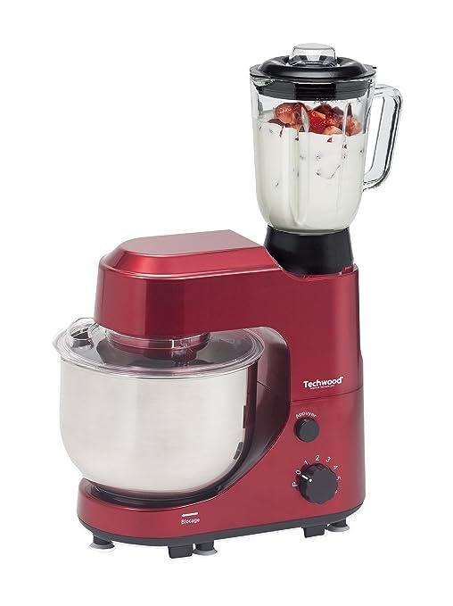 Techwood-TRO 625-Robot de cocina multifunción 600 w, color rojo ...