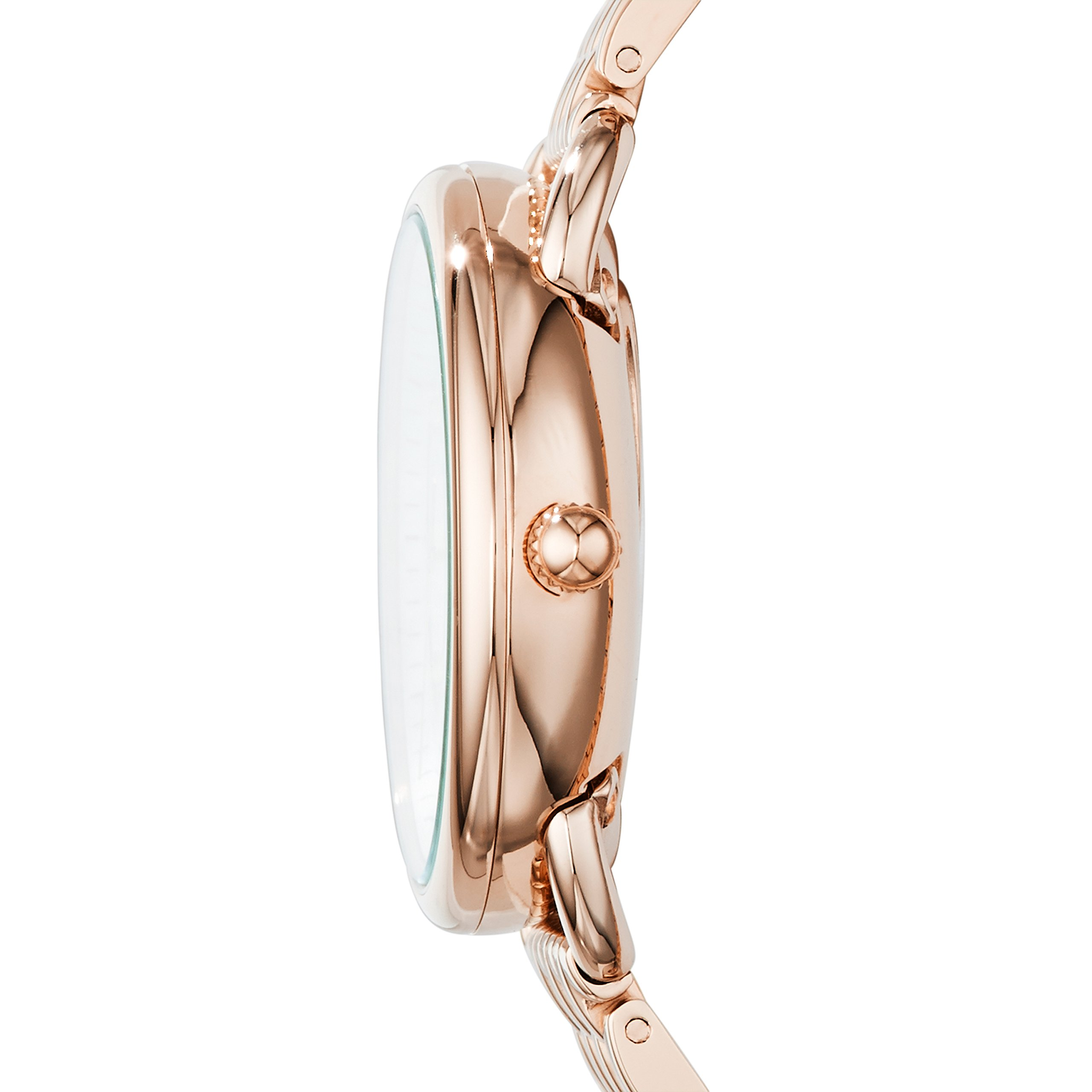 Fossil Women's Tailor Quartz Stainless Steel Dress Watch, Color: Rose Gold-Tone (Model: ES3713) by Fossil (Image #3)