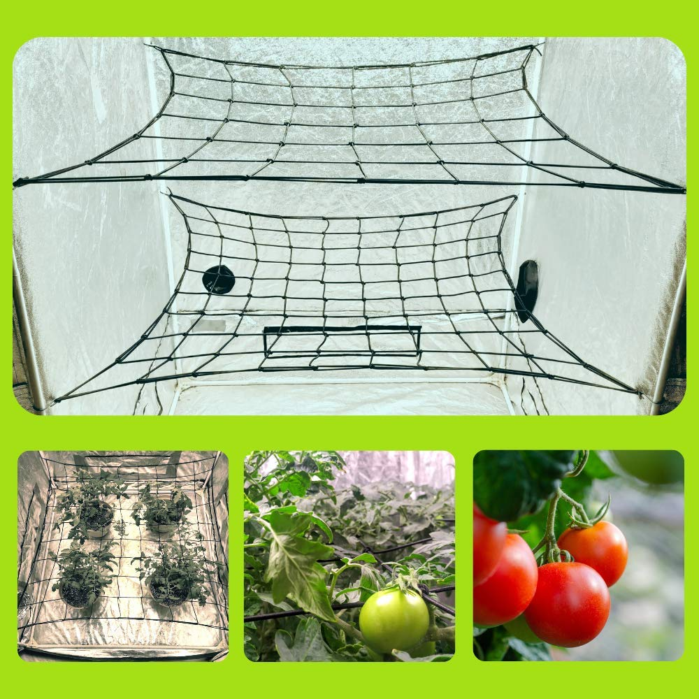 MEGALUXX 2-PK Dual Layer Netting for 4x4 5x5 4x2 Grow Net Trellis Netting Grow Tent Net