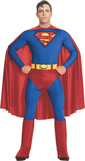 Rubies Costume Co Adult, Disfraz de Superman para hombre, azul ...