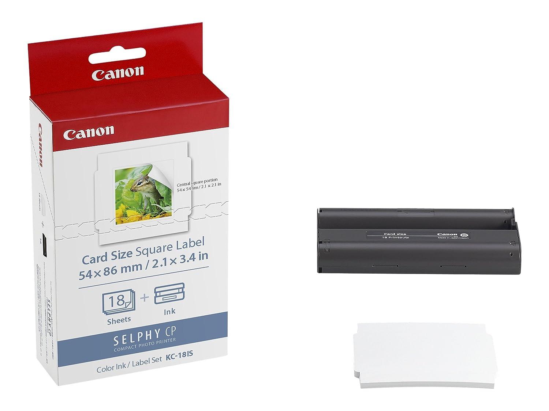 Canon KC-18IS + + KC-18IS PCC-CP400 - Etiquetas de impresora (Multicolor, Inyección de tinta, Canon: SELPHY CP900, 54 x 86) a56287