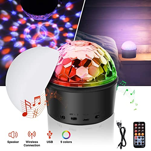 Hocossy Portable LED Disco Ball Night Lamp MP3 Music Bluetooth Speaker review