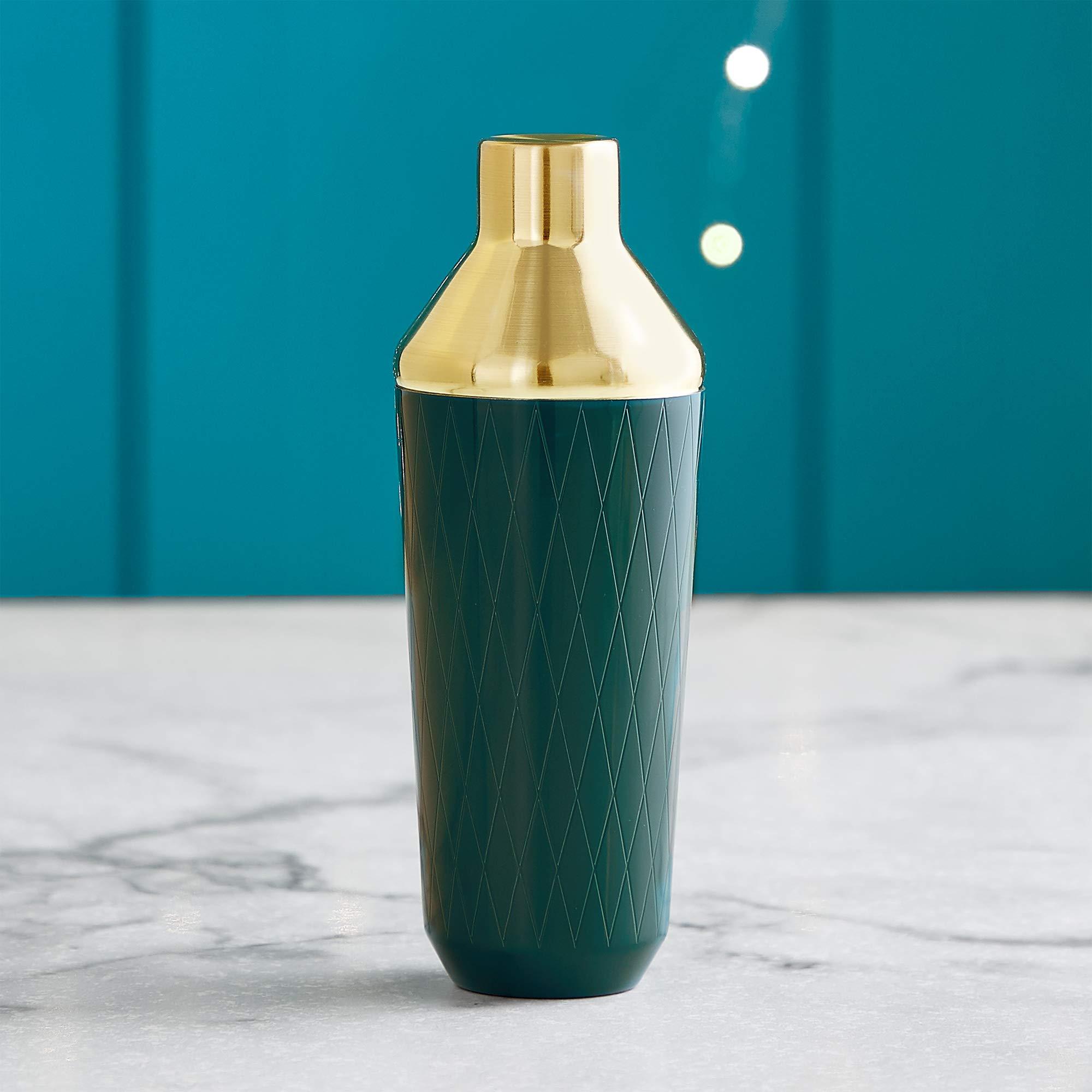 VonShef Green & Gold Cocktail Shaker Set in Gift Box with 16oz Shaker, Muddler, Bar Spoon, Jigger, Hawthorne Strainer, Julep Strainer, Bottle Pourer and Recipe Book by VonShef (Image #7)