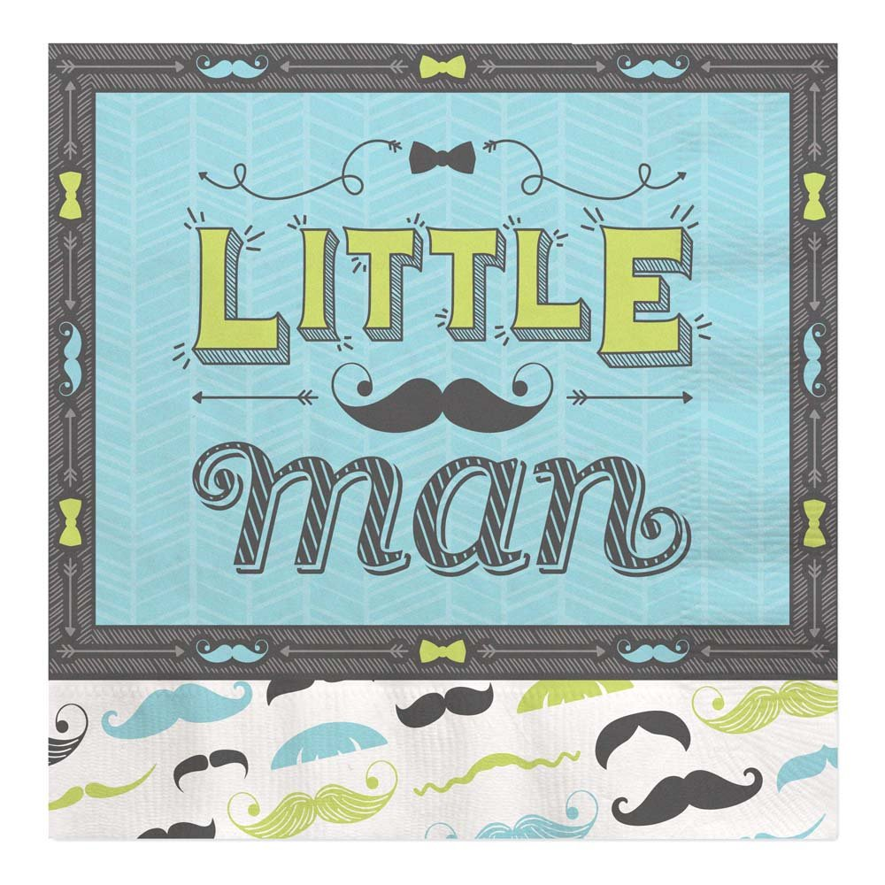 Amazon.com Big Dot of Happiness Dashing Little Man Mustache - Baby Shower or Birthday Party Tableware Plates Napkins - Bundle for 16 Toys \u0026 Games  sc 1 st  Amazon.com & Amazon.com: Big Dot of Happiness Dashing Little Man Mustache - Baby ...