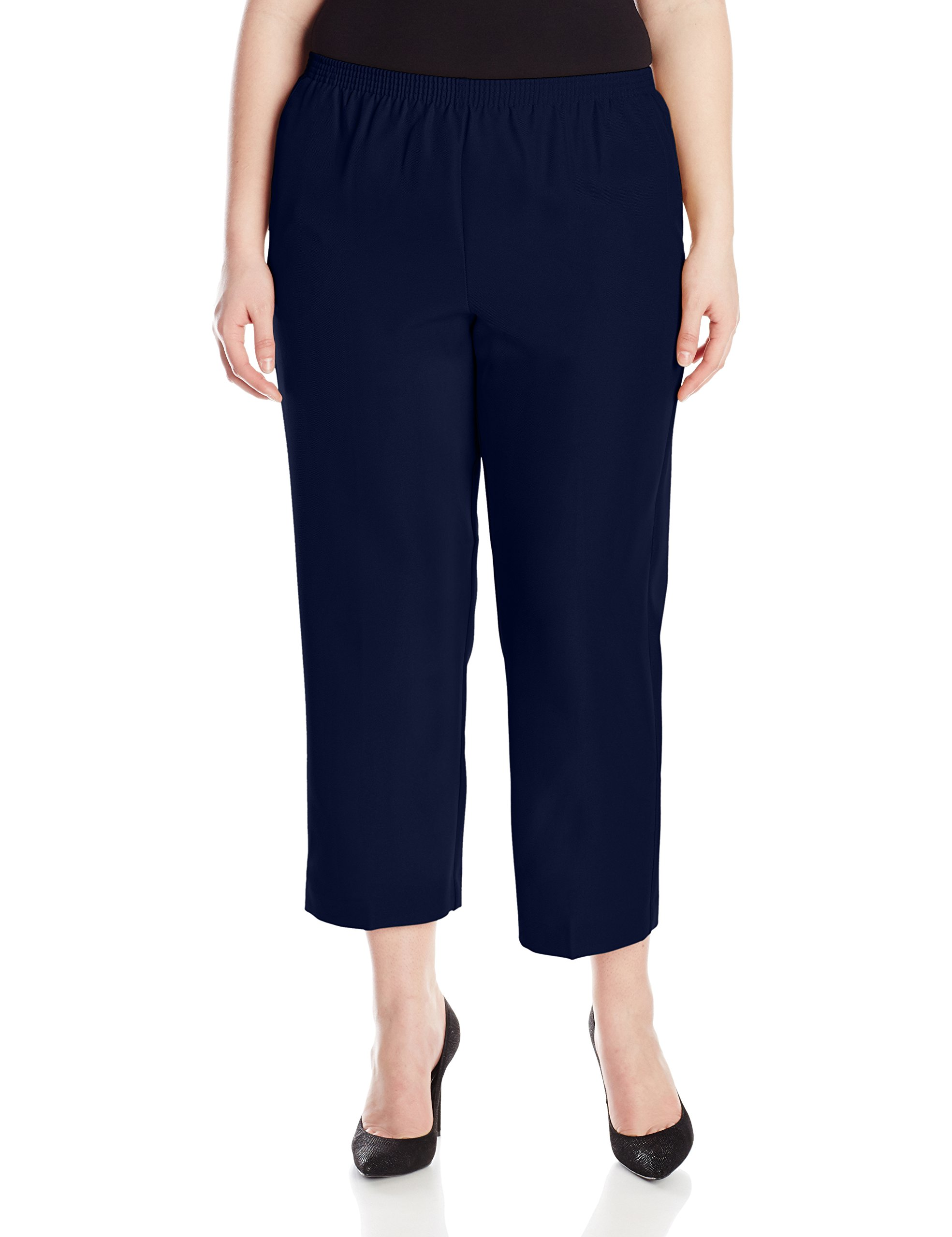 Alfred Dunner Womens Plus Short Pant, Blue, 18W