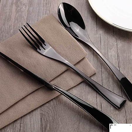 DFSTH Mesa, Accesorios de vajilla/Cubiertos/Mesa/Juego de Cubiertos/ Cubiertos en Caja/Platos de Carne/portátil Utensilios: Amazon.es: Hogar