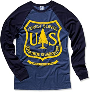 product image for Hank Player U.S.A. US Forest Service Men's L/S Baseball T-Shirt