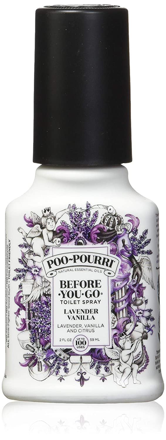 Poo-Pourri Lavender Vanilla Before You Go Spray, 4 Ounce (2 Count)